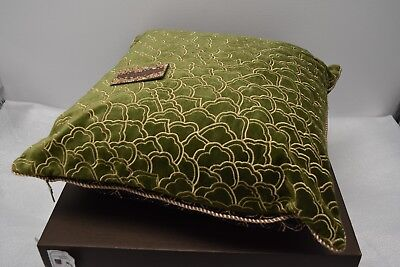 "$395 NEW Jay Strongwater TRELLIS PILLOW Bouquet Plum  Brown 20 /"" Square"