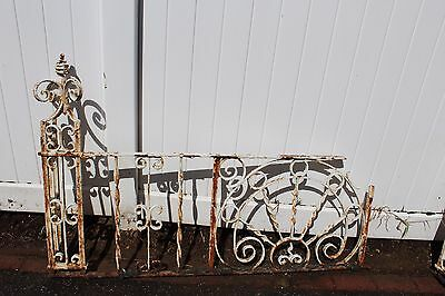 Antique Ornate Wrought Iron Fence - American circa 1900s 5