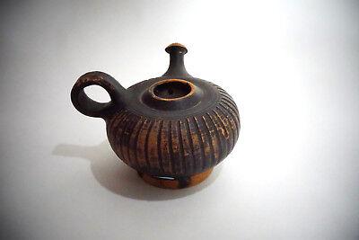 A Greek Pottery Blackware Guttos, ca. 5th-3rd Century B.C.