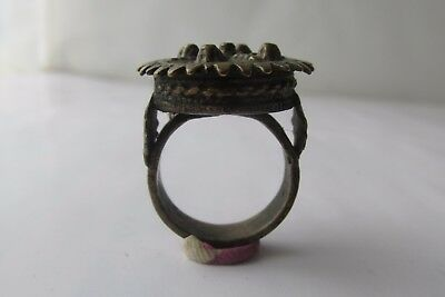 Unique Rare Ancient Late Roman/early Byzantine Ring With Cross 11