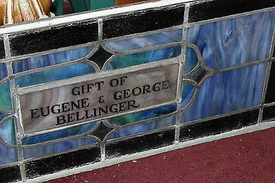 Antique Stained Glass Leaded Church Window-Religious-Eugene Bellinger-LARGE 3