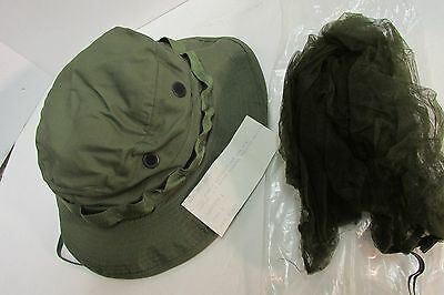ec0b755896b ... With Mosquito Net 5 5 of 7 Us Vietnam Era Od Boonie Hat 6 7 8 Og-107  1969 New In
