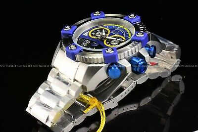 "Invicta 63mm Reserve Grand Octane Arsenal ""PINNACLE"" Swiss Silver Blue SS Watch 5"