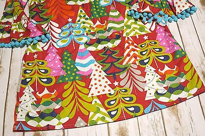 bb59a1f96223c ... Lolly Wolly Doodle Girls Sz 5 Boutique Colorful Christmas Tree Holiday  Dress 3