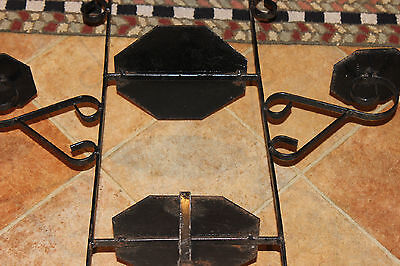 Vintage Wrought Iron Garden Plant Stand-Black-Holds 5 Plants-Architectural-LQQK