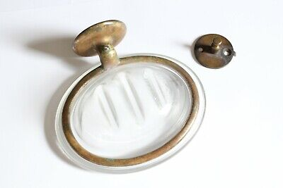antique bathroom soap holder | hoegger soap holder vtg glass soap dish deco bath 2