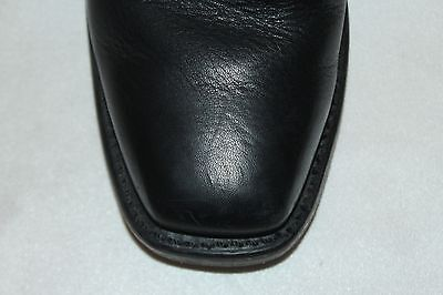 DOUBLE H Boot Company Black Leather Harness Square Toe Western Cowboy Boots 6.5 5