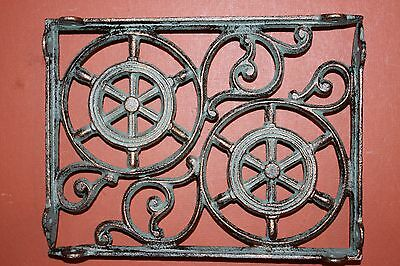 (4)Pcs,nautical Decor, Shelf Brackets, Ships Wheel,helm, Bronze-Look,corbel B-31 2