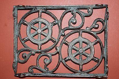 (4)Pcs,nautical Decor, Shelf Brackets,ships Wheel, Helm, Bronze-Look,corbel B-31 2