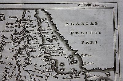 Original antique map ANCIENT NORTH AFRICA, LIBYA, ETHIOPIA, NILE, Basire, 1747