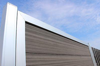 Design Wpc Sichtschutz Zaun Windschutz Alu Gartenzaun Anthrazit 180