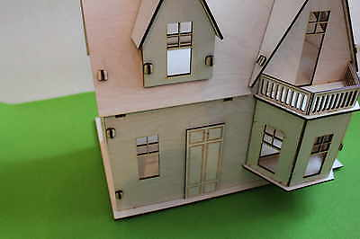 Wooden 3d Doll House Craft Kit Self Assembly Little Cottage Handmade