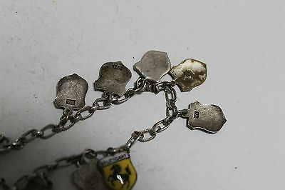 Antique Authentic Hand Made Charming Silver Coins Woman Chain Bracelet. 8