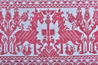 ANTIQUE 19th CENTURY MOROCCAN? GREEK? RUSSIAN? EMBROIDERY TEXTILE HORSES 4