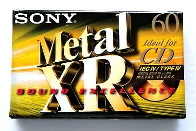 Sony Xr 60 Metal Position Type Iv Blank Audio Cassette - 1999 2