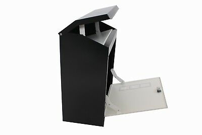 LARGE PARCEL BOX //Mail GREY BLACK OR BLACK AND WHITE PARCELBOXES Waterproof