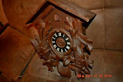 Vintage 8 day Heco Cuckoo Clock Box only for parts 4