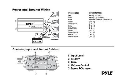 PYLE HYDRA MARINE Amplifier - Upgraded Elite Series 800 Watt 4 Channel  Micro ... - $52.99 | PicClick | Pyle Hydra Amp Wiring Schematic |  | PicClick