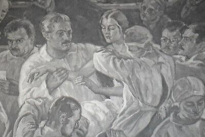 Seltene Litographie, Med Uni Wien, Autopsie Lehrsaal, um 1930 2