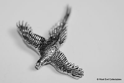 Wings Spread Pheasant Pewter Brooch Pin - British Artisan Signed Badge - Hunting 3