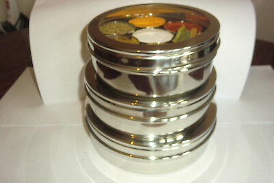 Quality Stainless Steel Masala Dabba  - Optional 10 Spicebite Spices Selection
