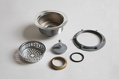 antique vintage sink drain strainer | art deco antique vtg plumbing nickel 2