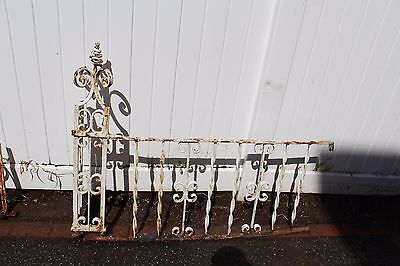 Antique Ornate Wrought Iron Fence - American circa 1900s 6