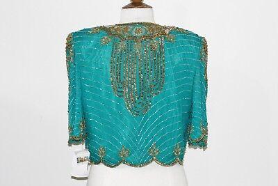 Jasdee Vintage Bolero Jacket Hand Work Beading & Sequins On Silk Style 2089 2