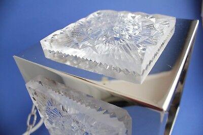 Swedish vintage brass chrome plated Crystal ORREFORS VINTAGE  LAMP 6