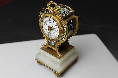 Gorgeous Vintage French Miniature 8-day Clock 5