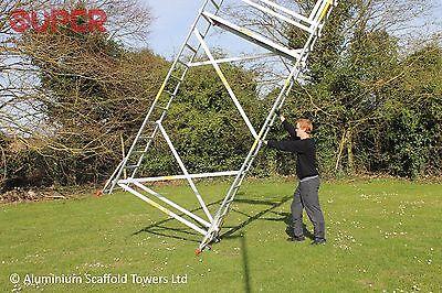 Super DIY 5.2M (3 in ONE) - Aluminium Scaffold Tower, 1m Frames, One Man Tower 4