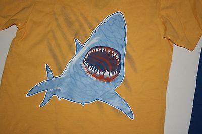New Big Fish Boys 2 Pc Outfit Yellow Shark Top Tee & Blue Shorts Set 5 Year NWT 2