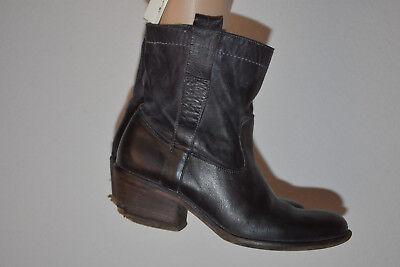5a373a94c31915 2 2 sur 8 JFK Bottines femme Chaussures bottes italiennes tout cuir noir 36  ! 3