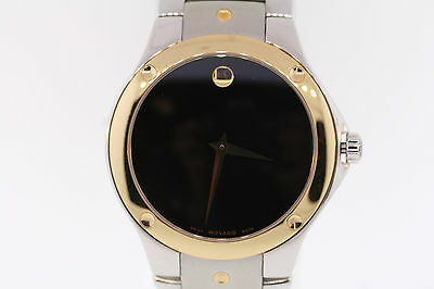 21f6ca95cd6 ... Men s Movado 0605910 SPORTS EDITION SE Two-Tone Stainless Steel Black  Dial Watch 2