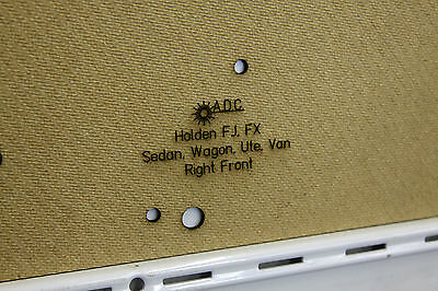 Panel Van /& Sedan Blank Trim Panels 42-215 Holden FJ FX Kick Panels Fit: Ute
