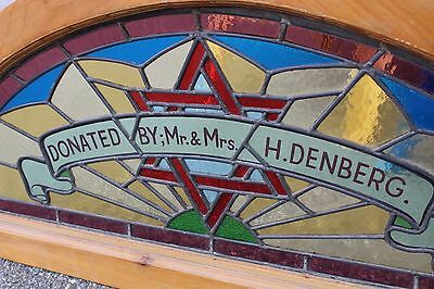 Arched Top Antique Victorian Stained Glass Window Architectural Salvage Church 3