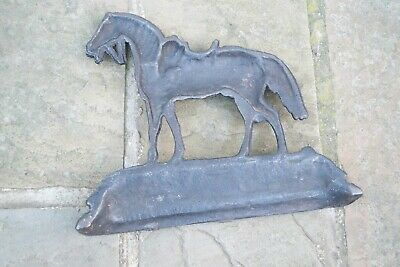 Antique Cast Iron Door Stop Book End Horse Equestrian themed Victorian Item 4
