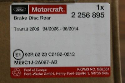 Original Bremse hinten Ford Transit Baujahr 4//2006-12//2013 2262937 1852717
