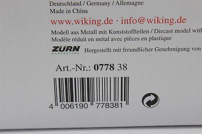 Neu Wiking 077838-1//32 Zürn Direktschneidwerk ProfiCut 700 mit Wagen