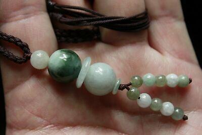 "Gemstone 100% Natural ""Grade A"" Jadeite JADE Handmade Beaded Necklace #305 6"