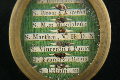 † 19Th St Martha + St Mary Magdalene Multi Reliquary 7 Relics 1St Class Italy † 6