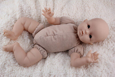 "18"" reborn baby doll body cloth doe suede for 3/4 arms & full jointed legs kits! 2"