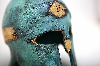 Ancient Greek Bronze Museum Replica Vintage Corinthian Soldier Battle Helmet 4