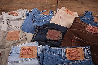 10x Pairs Grade B Wholesale Levis 501 Vintage Worn Denim Jeans Job Lot.