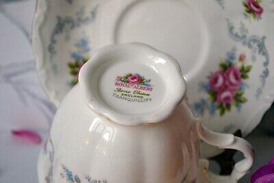 Vintage Royal Albert England TRANQUILITY Tea Cup Teacup Saucer Set, bone china 10