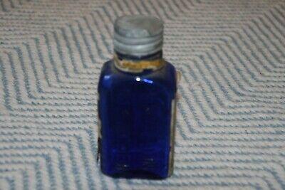 Alte Flasche - Antike Flasche - kobaltblau - Etikett 3