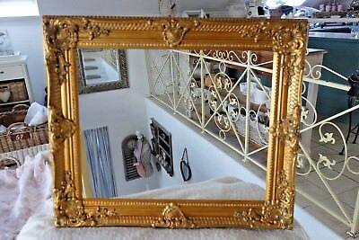Großer Bilderrahmen Gemälde Foto Barock Rahmen Holz Gold 54x44 cm Antik Look NEU 3