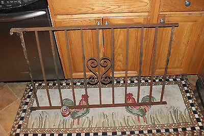Vintage Wrought Cast Iron Architectural Garden Yard Art Fence Railing-LQQK 5