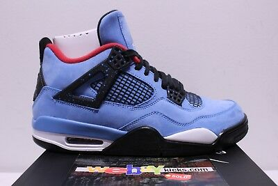 finest selection 34769 3e02e AIR JORDAN RETRO 4 Cactus Jack Travis Scott University Blue Sneakers Men's  8-13