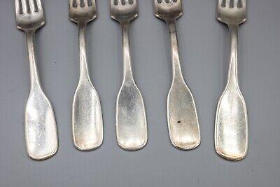 """Hans Hansen Susanne Sterling Silver Dinner Fork, Denmark – 7 1/8"""" – Set of 5 5"""